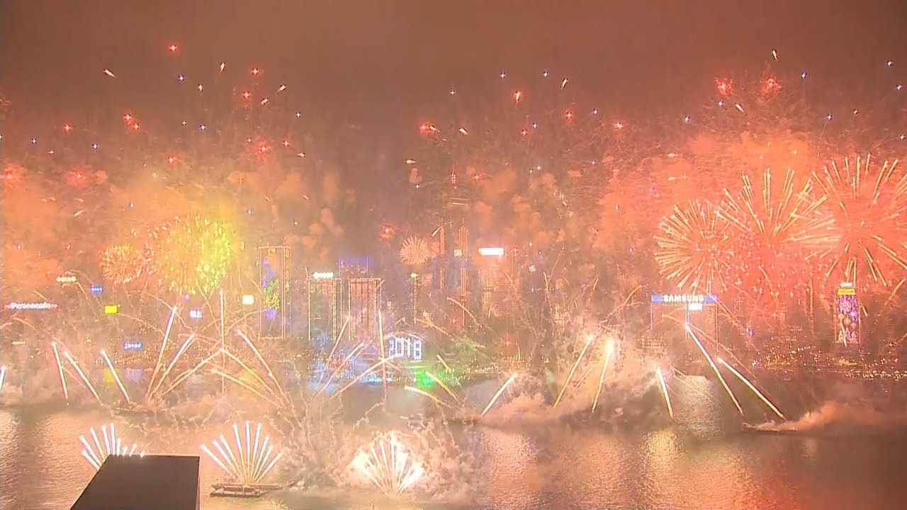 Hong Kong's spectacular New Year 2018 fireworks