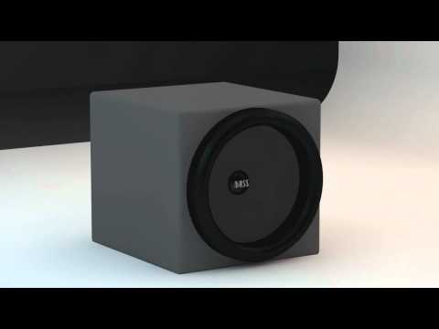 Cinema 4D Subwoofer test (Skrillex – Ruffneck Bass)