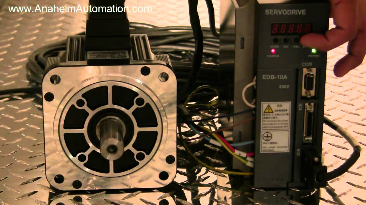 How To Operate A Servo In Speed Control Youtube