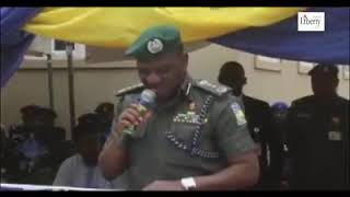 Nigeria Inspector General of Police  at the commissioning of Police Techincal Interlligence Unit