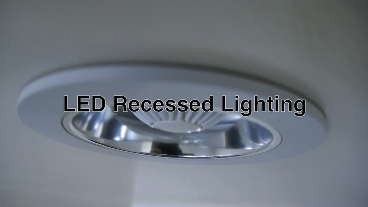 LED Recessed Lighting w/ Can Ceiling Lights Fixtures For Bathroom or Shower Light u0026 Other Spaces ...