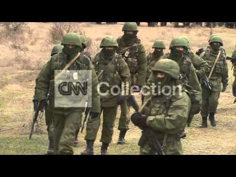 UKRAINE CRISIS-TROOPS OUTIDE ARMY BASE IN CRIMEA
