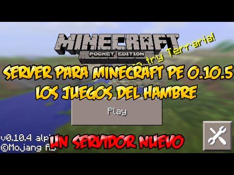 Nuevo Server   Minecraft PE 0.10.5   Juegos Del Hambre