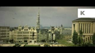 1960s Brussels Belgium, 16mm Colour Anamorphic Home Movies