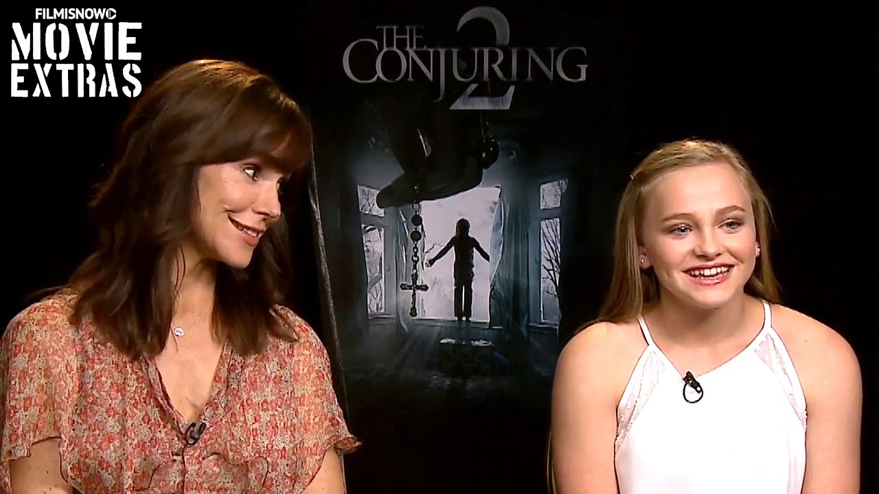 Frances O'Connor & Madison Wolfe talk about The Conjuring 2 (2016)