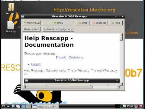 Rescatux - Restore grub