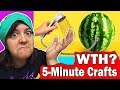 WORST CRAFT CHANNEL! 3 GARBAGE 5 MINUTE CRAFTS DIY life hacks SaltEcrafter Reacts #3