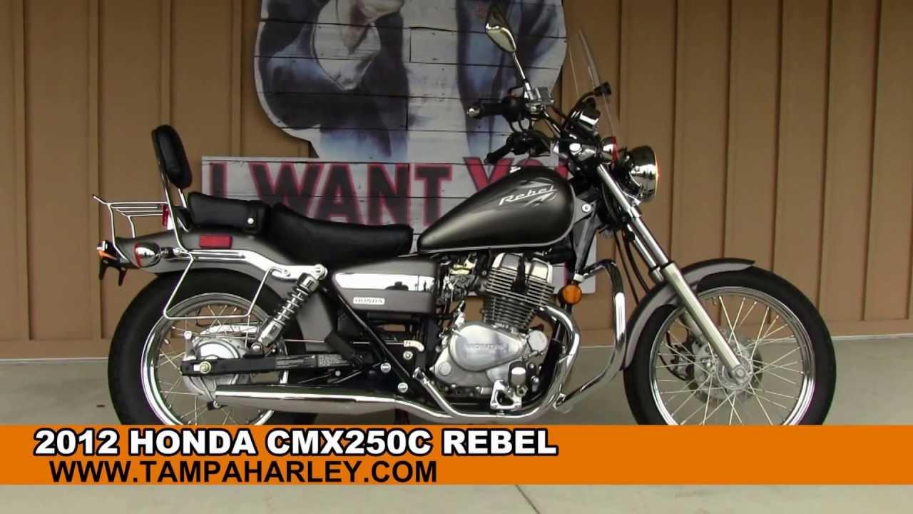 used 2012 honda rebel cmx250c motorcycle for sale in tampa orlando youtube. Black Bedroom Furniture Sets. Home Design Ideas