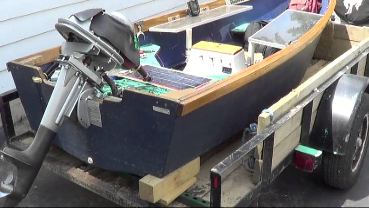 Tournament Ready Solar Powered Fishing Boat Angle