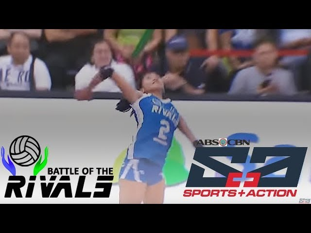 Alyssa valdez ends the INTENSE rally | Battle of the Rivals Game Highlight | July 16, 2017