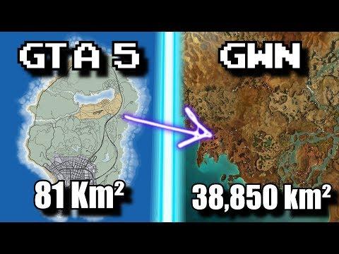 Los 11 mapas más grandes de los videojuegos