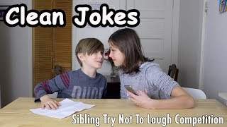 Sibling Try Not to Laugh Competition | Clean Jokes for Kids