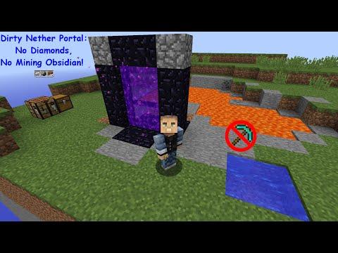 Dirty Nether Portal Guide -  KollinsPlays Minecraft Tutorials