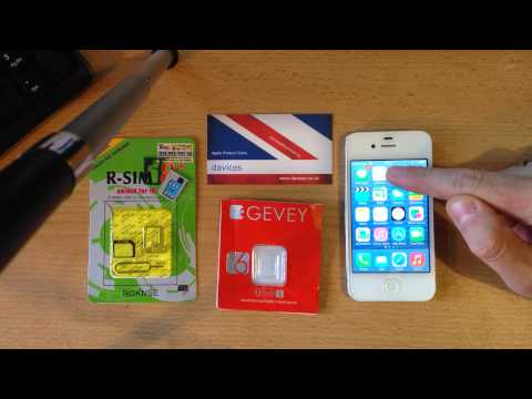 iphone 4s running ios 7 unlocked using gevey ultra s and r-sim 8+