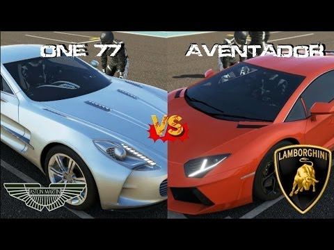 Forza 5 - Aston Martin One 77 vs Lamborghini Aventador at Yas Marina