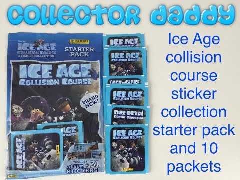 Ice Age Collision Course Panini sticker collection starter pack and 10 packets