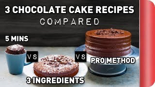 3 Chocolate Cake Recipes COMPARED Ft. Rosanna Pansino!