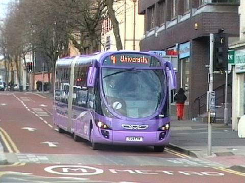 Buses in Swansea - March 2010.