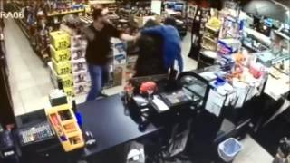 Robber Vs 2 Store Clerks