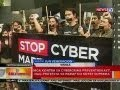 BT: Mga kontra sa Cybercrime Prevention Act, nag-protesta sa harap ng Korte Suprema