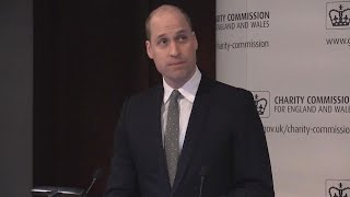 Prince William Praises Late Mother, Diana, in Rare Personal Speech -- Watch