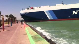 Giant Ship Almost Hit Shuwaikh Beach In Kuwait 25-3-2013 سفينة بشاطئ الشويخ