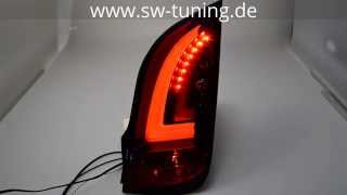 LED Rückleuchten swcelis für VW UP! Skoda Citigo 11-16 black/smoke Lightbar SW-Tuning