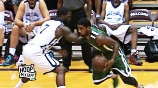 Kyrie Irving Sick Shammgod And Dunk Down The Lane! 2 Dope Plays At Jamal Crawford Pro-Am!