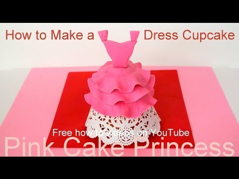 How to Make Mother's Cupcakes - Dress Cupcakes