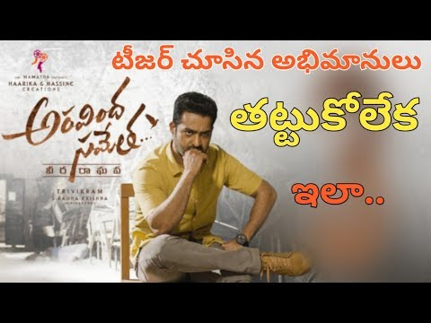 Jr NTR Fans' Response to Aravindha Sametha Movie teaser