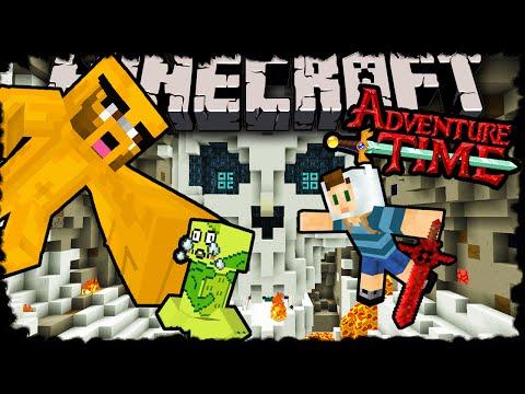 Minecraft: Adventure Time with Finn & Jake! Herobrine's Return Adventure Map Episode 2 Skeletor Boss