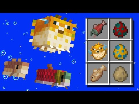 NEW Fish Mobs, Biomes, Items! Minecraft 1.13 Snapshot Update