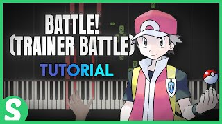 """How to play """"TRAINER BATTLE"""" from Pokemon RBY (Synthesia) [Piano Video Tutorial] [HD]"""