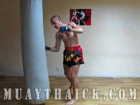 Тайский бокс (муай тай).  Отработка техники ударов на мешке.  Урок №4/Muay Thai.  Working on bag