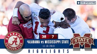 #5 Alabama vs Mississippi ST Highlights: Tagovailoa out for season after hip injury | CBS Sports HQ