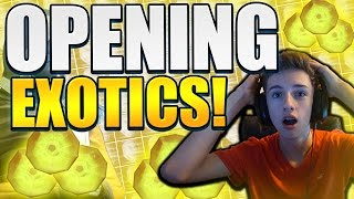 Destiny - OPENING 5 EXOTIC ENGRAMS LIVE w/Facecam (Insane Reaction)