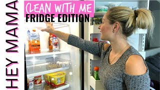 FRIDGE DEEP CLEANING MOTIVATION I SAHM CLEAN WITH ME 2018