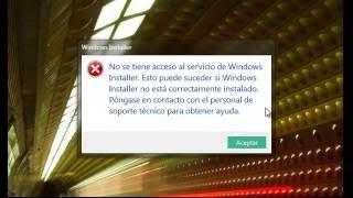solucionando problema WINDOWS INSTALLER
