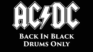 ACDC Back In Black DRUMS ONLY