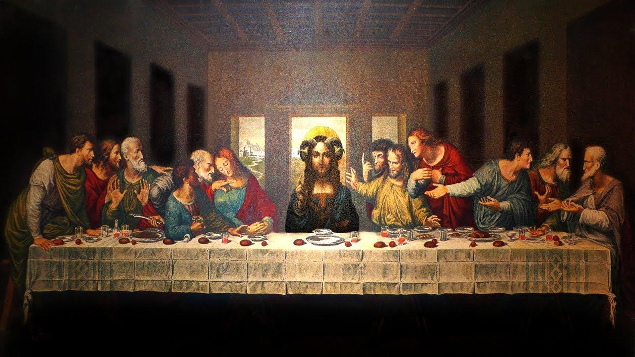 The Da Vinci Code - The Devil On Jesus's Robe - Leonardo's ... Da Vinci Paintings Hidden Messages
