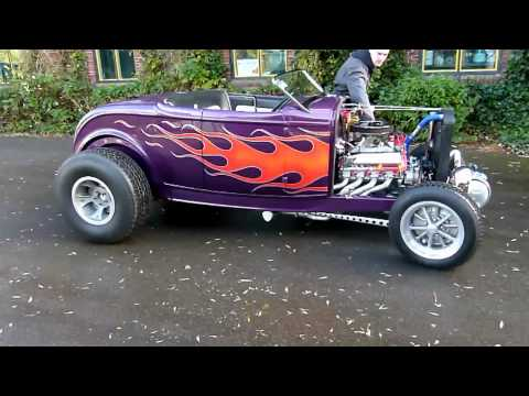 32'er Ford Deuce Roadster Hot Rod - 351 Cleveland Stroker 393 Build by USA Engines BV