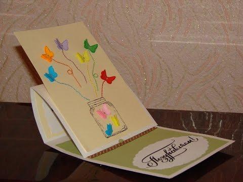 Делаем открытки своими руками на день рождения видео