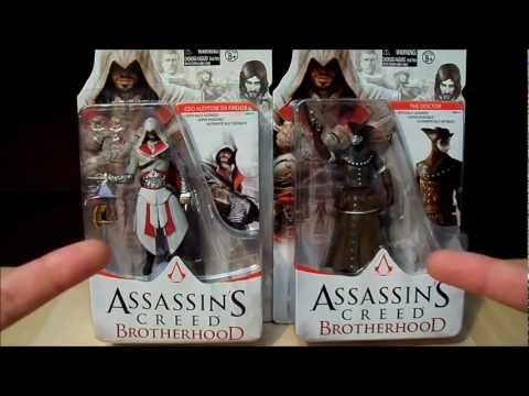 Assassin's Creed Brotherhood 4in. Figure Toy Review - Ezio and The Doctor