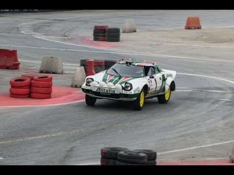 Lancia Stratos Alitalia and Delta Integrale Martini action! [Motorshow Bologna 2014] /60 FPS/