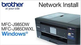 02.Installing MFCJ985DW or MFCJ985DWXL on a wired network - Windows® Version
