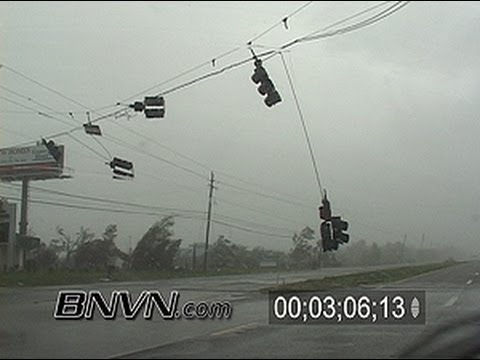 7/10/2005 Hurricane Dennis Video Part 15, Driving In The Eye Of Hurricane Dennis