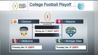 2015 College Football Playoff Selection & Reaction