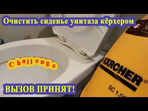 Мытьё сиденья унитаза пароочистителем KARCHER