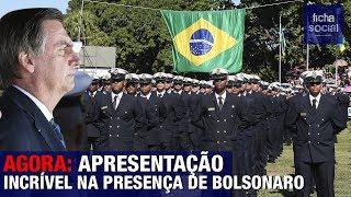 AGORA: MILHARES DE MILITARES FAZEM APRESENTAÇÃO IMPRESSIONANTE NA PRESENÇA DE BOLSONARO