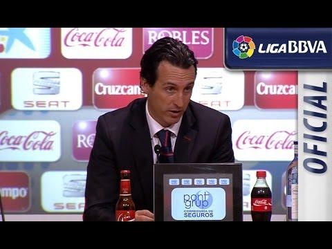 Rueda de Prensa de Unai Emery tras el Sevilla FC (0-0) Valencia CF - HD